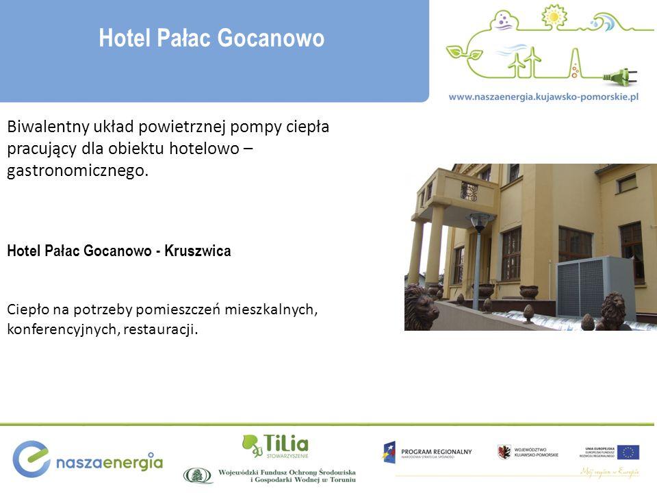 Hotel Pałac Gocanowo Biwalentny układ powietrznej pompy ciepła pracujący dla obiektu hotelowo – gastronomicznego.