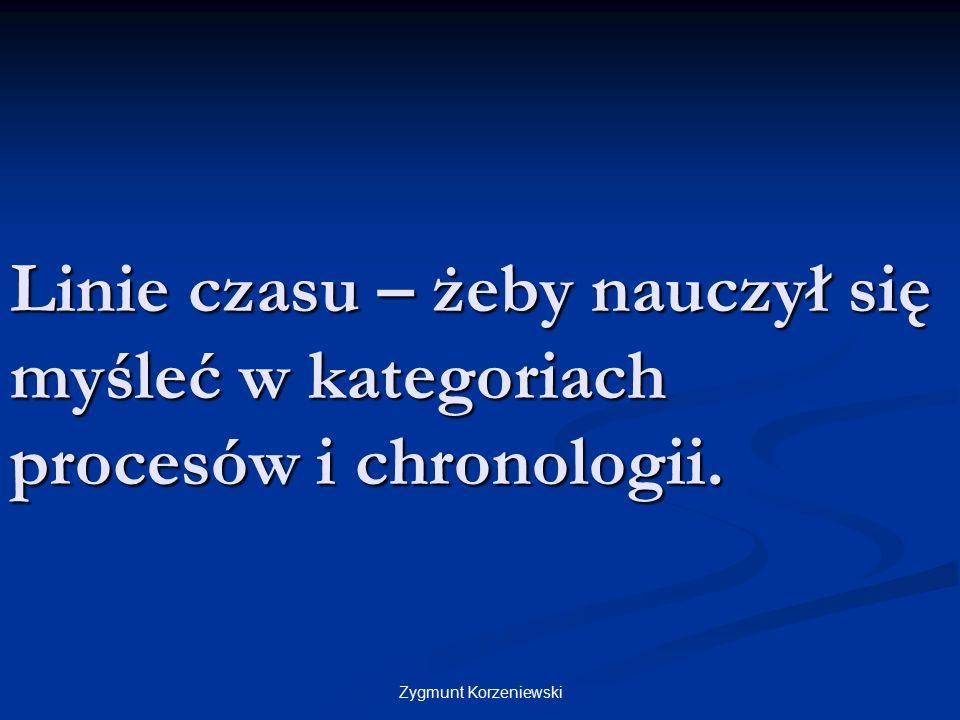 Linie czasu – żeby nauczył się myśleć w kategoriach procesów i chronologii. Zygmunt Korzeniewski
