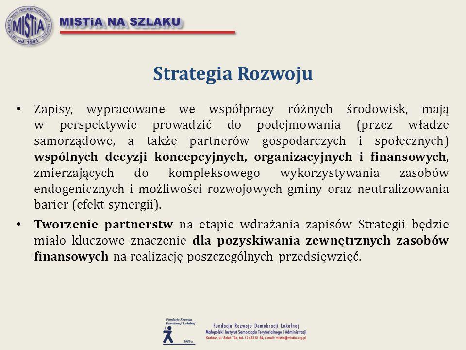 Zapisy, wypracowane we współpracy różnych środowisk, mają w perspektywie prowadzić do podejmowania (przez władze samorządowe, a także partnerów gospod