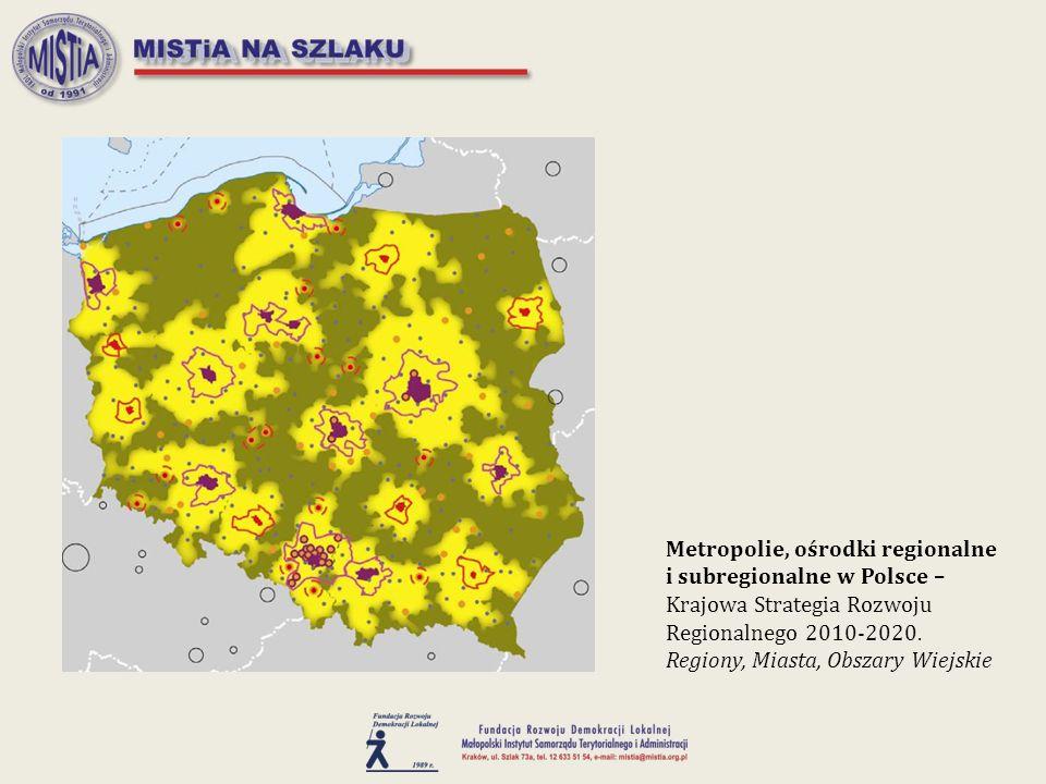 Metropolie, ośrodki regionalne i subregionalne w Polsce – Krajowa Strategia Rozwoju Regionalnego 2010-2020. Regiony, Miasta, Obszary Wiejskie