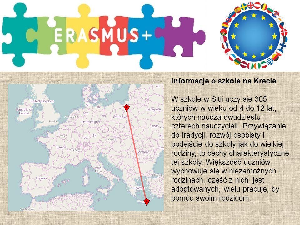 Informacje o szkole Szkoła naszych Partnerów jest najbardziej doświadczoną placówką w zakresie projektów we wschodniej Krecie.