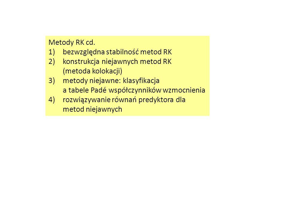 Metody RK cd.