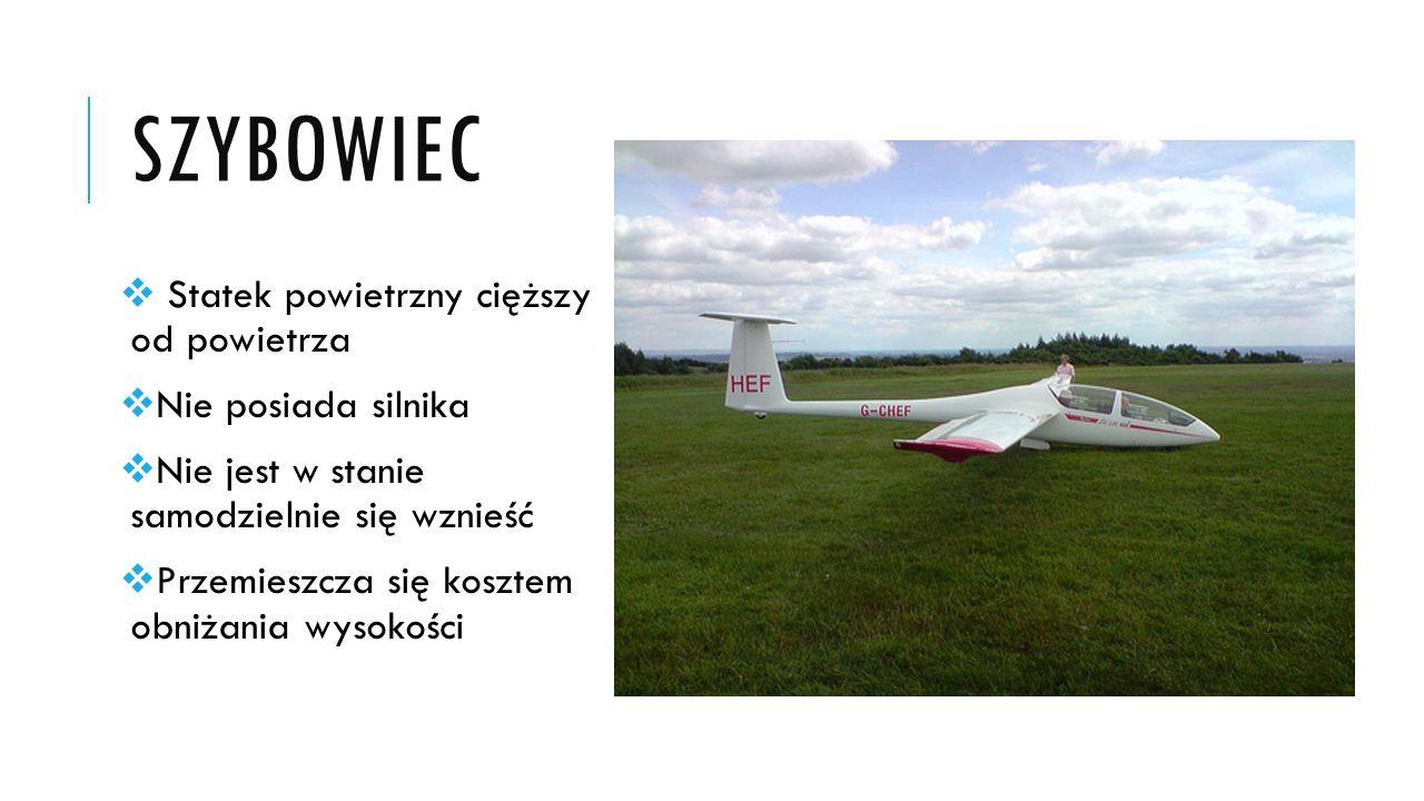 PARALOTNIA  Zbudowana na podstawie spadochronu  Jest rodzajem szybowca, którego bardzo dobrze się steruje  Przeznaczona do celów rekreacyjnych lub sportowych