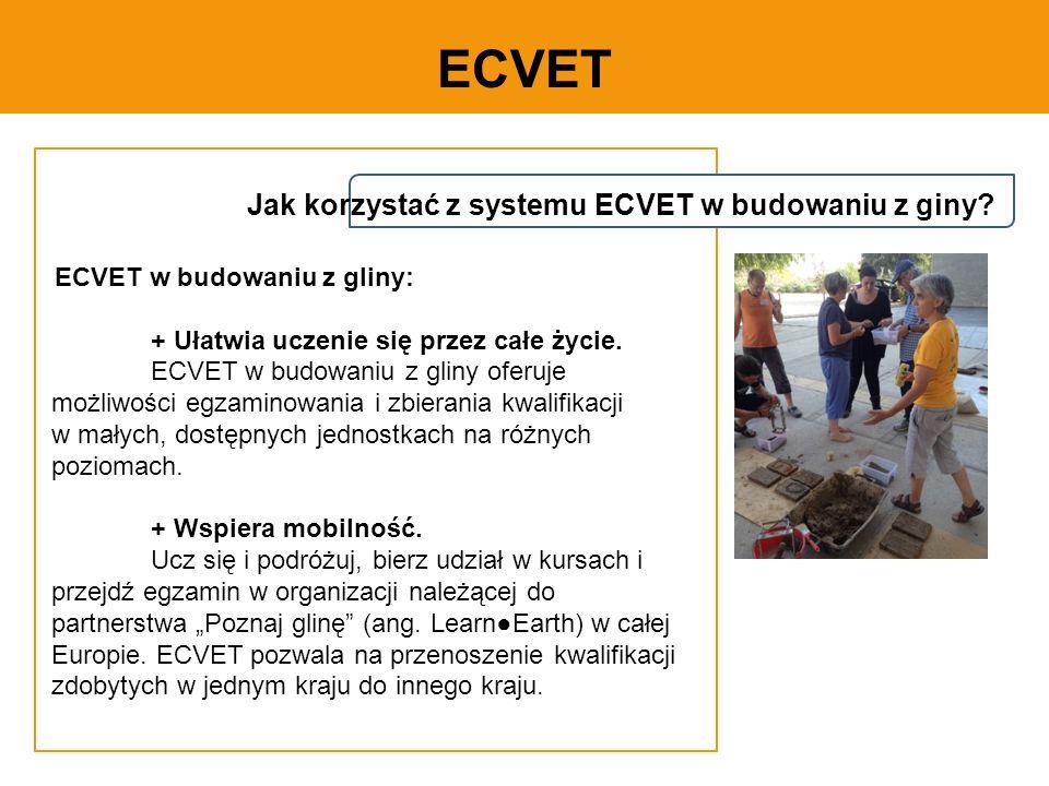 ECVET Jak korzystać z systemu ECVET w budowaniu z giny.