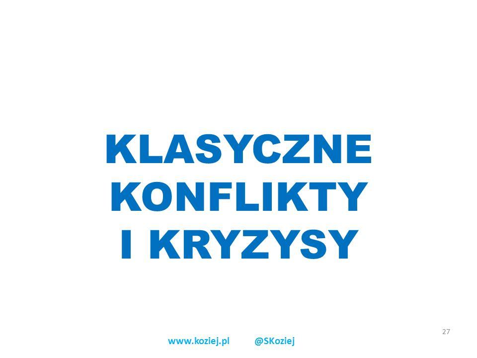 KLASYCZNE KONFLIKTY I KRYZYSY 27 www.koziej.pl @SKoziej