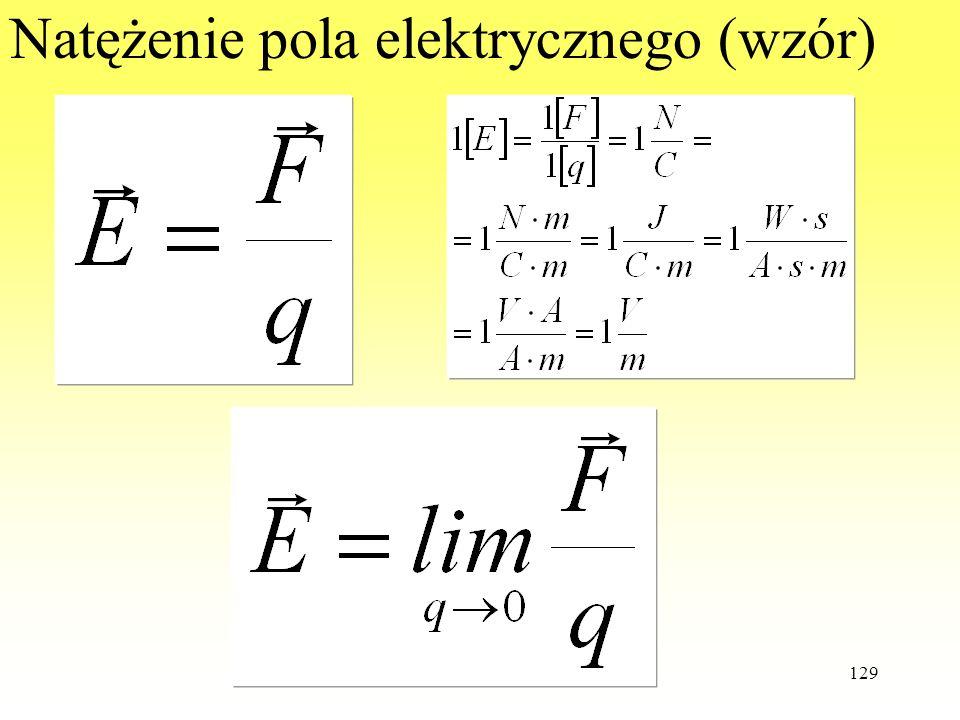 129 Natężenie pola elektrycznego (wzór)