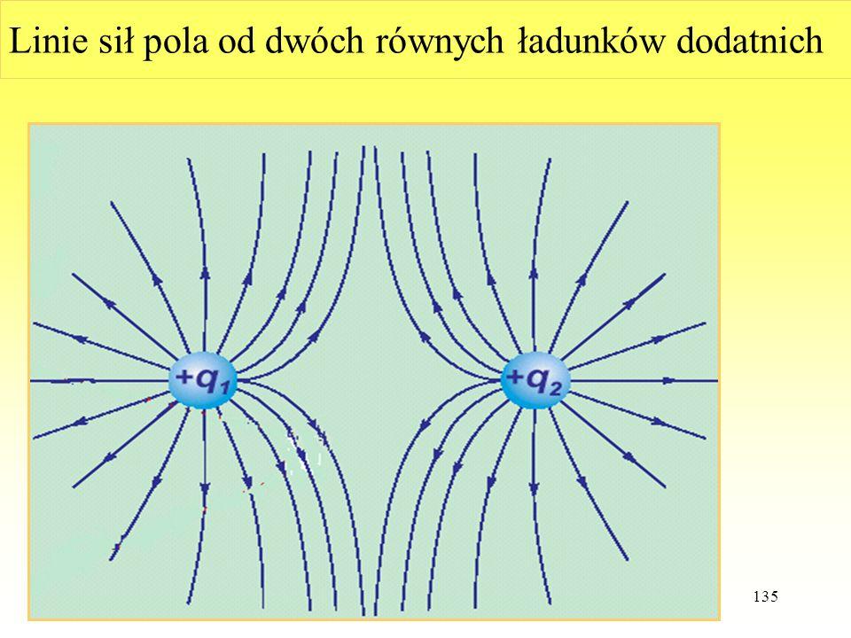 WdWI 2015 PŁ135 Linie sił pola od dwóch równych ładunków dodatnich
