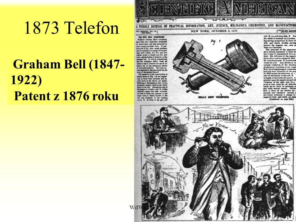 69 1873 Telefon Graham Bell (1847- 1922) Patent z 1876 roku WdWI 2015 PŁ