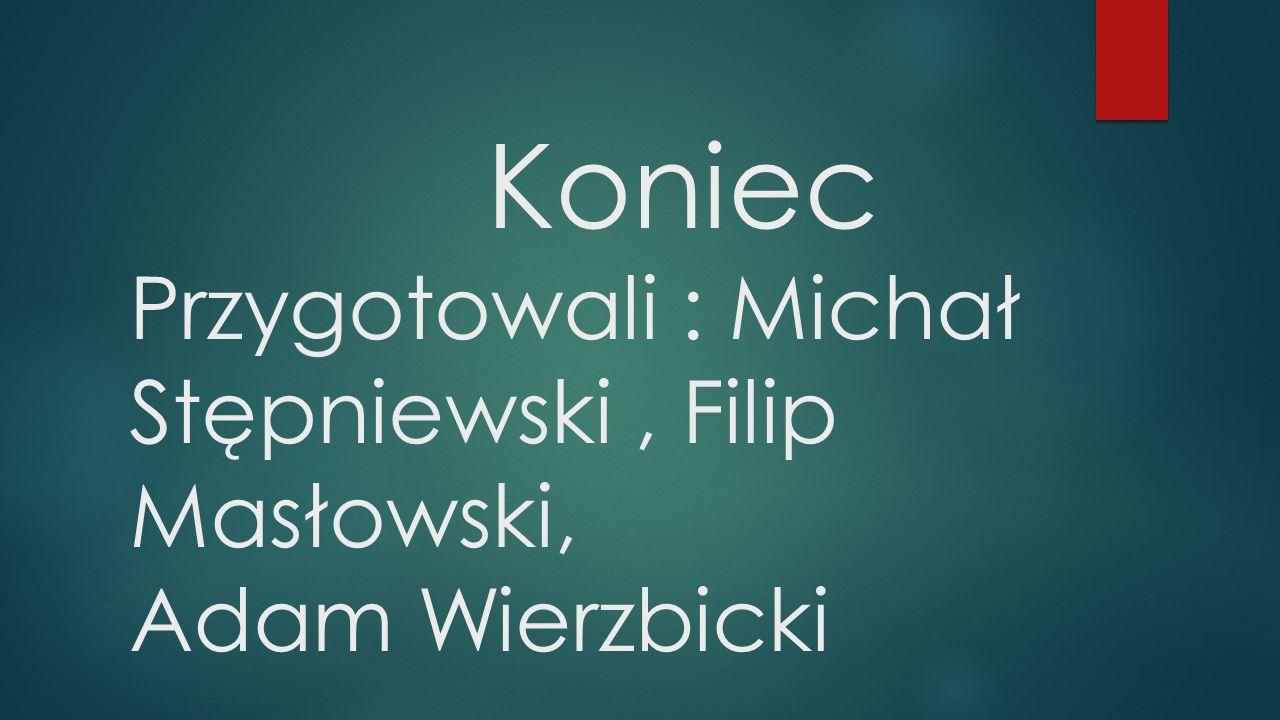 Koniec Przygotowali : Michał Stępniewski, Filip Masłowski, Adam Wierzbicki