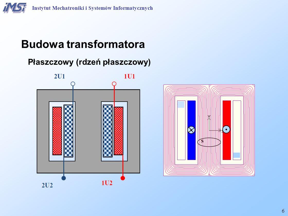7 Rdzeniowy (rdzeń ramowy) Budowa transformatora Instytut Mechatroniki i Systemów Informatycznych