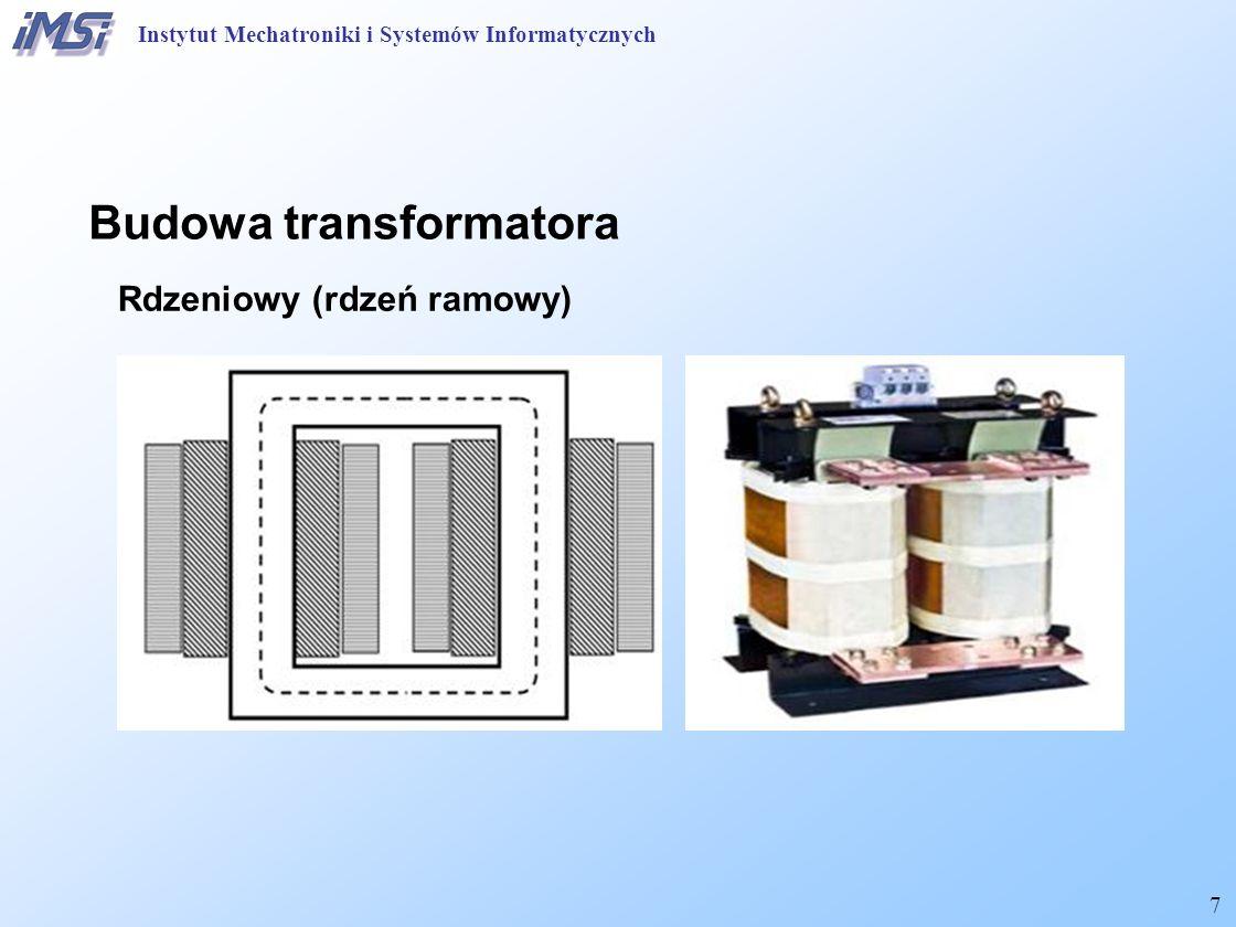 8 Budowa transformatora Strumień rozproszenia Instytut Mechatroniki i Systemów Informatycznych