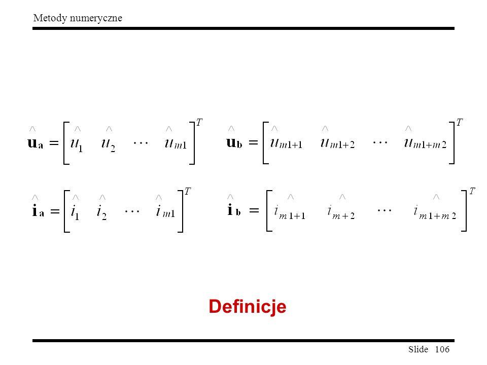 Slide 106 Metody numeryczne Definicje
