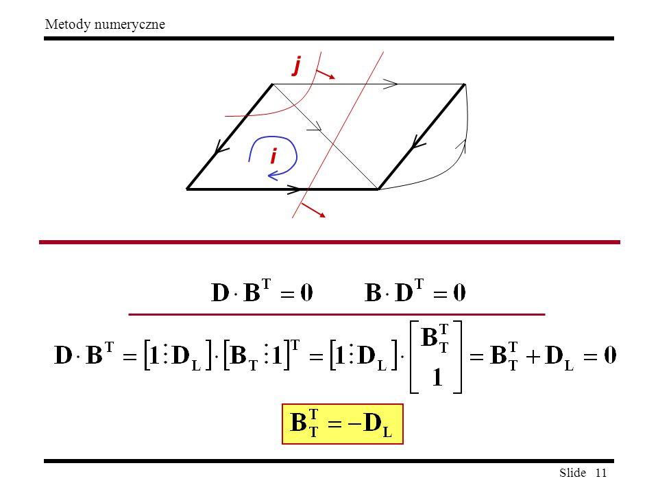 Slide 11 Metody numeryczne j i