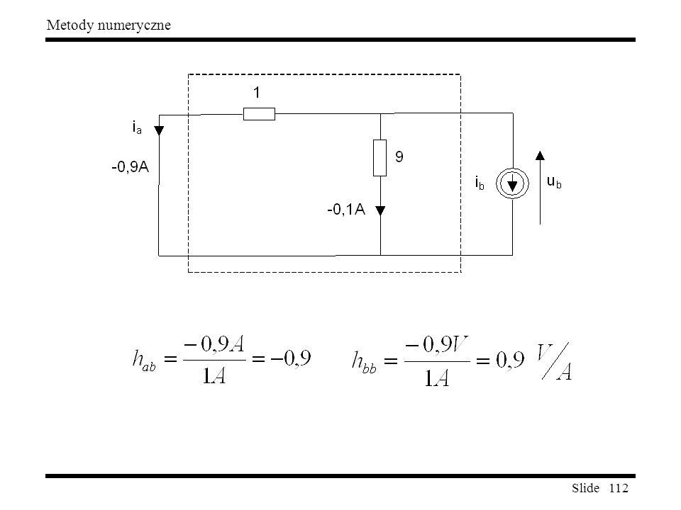 Slide 112 Metody numeryczne