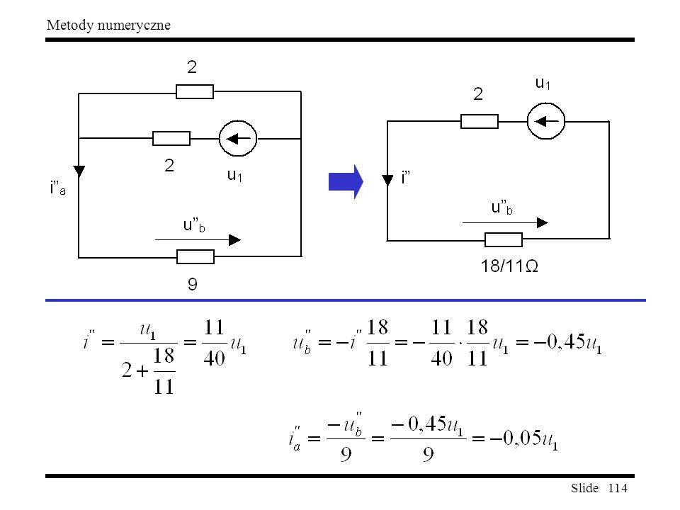 Slide 114 Metody numeryczne