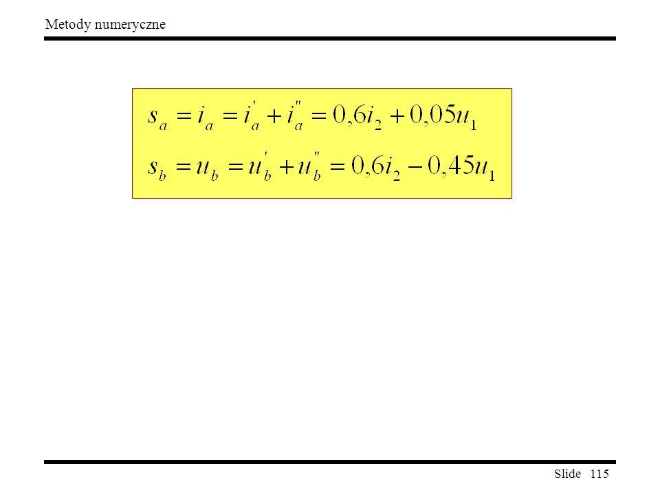 Slide 115 Metody numeryczne