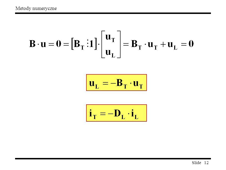 Slide 12 Metody numeryczne