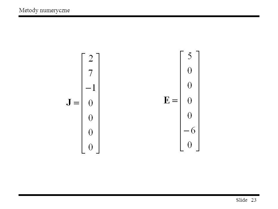 Slide 23 Metody numeryczne