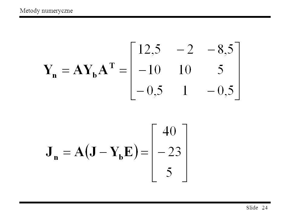 Slide 24 Metody numeryczne