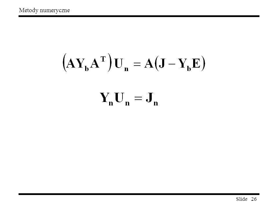 Slide 26 Metody numeryczne