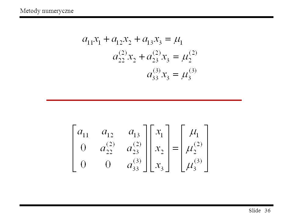 Slide 36 Metody numeryczne