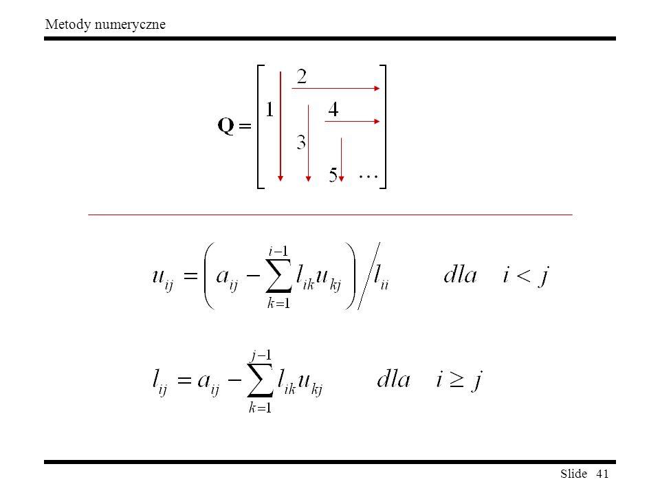 Slide 41 Metody numeryczne