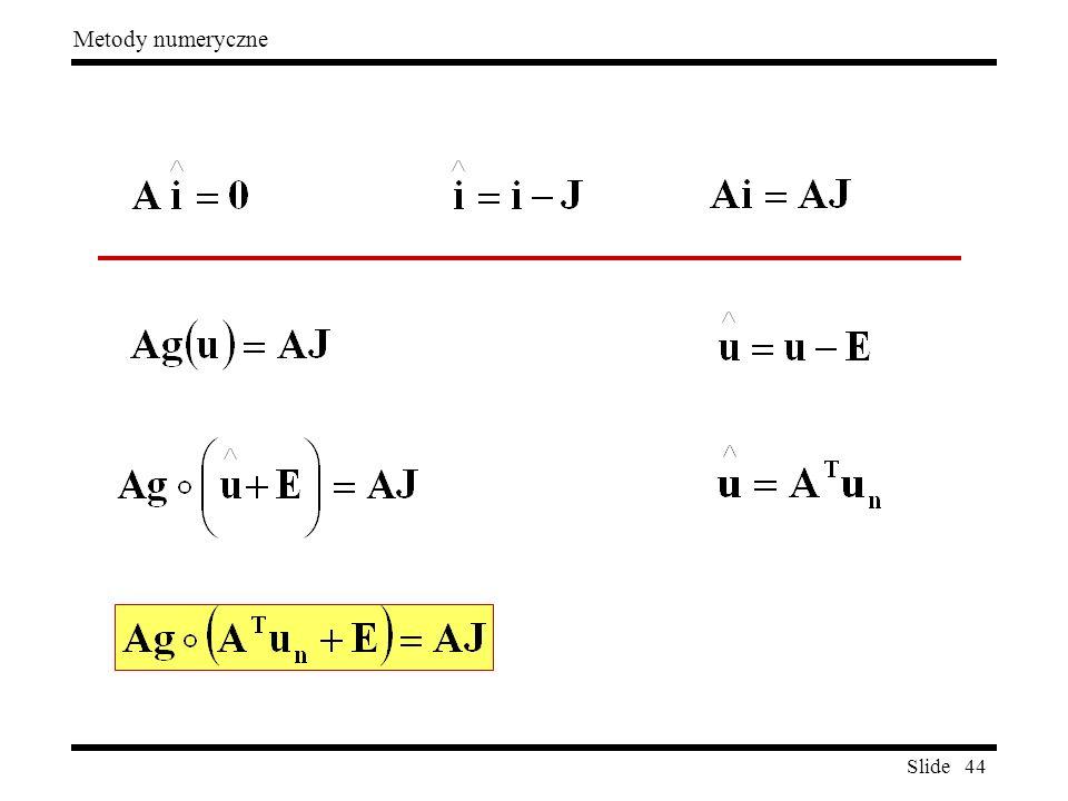Slide 44 Metody numeryczne