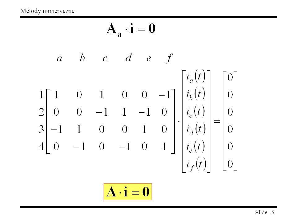 Slide 5 Metody numeryczne