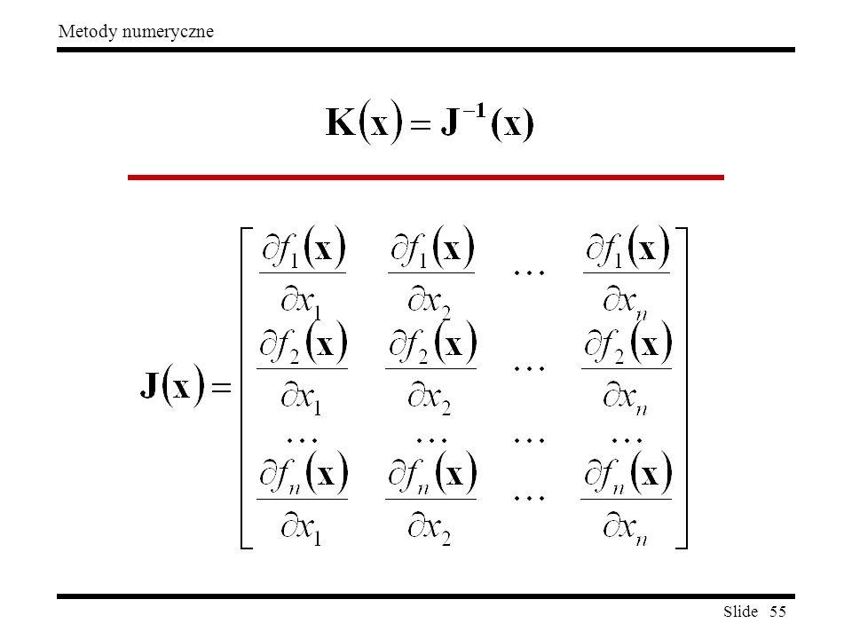 Slide 55 Metody numeryczne