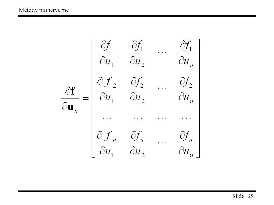 Slide 65 Metody numeryczne