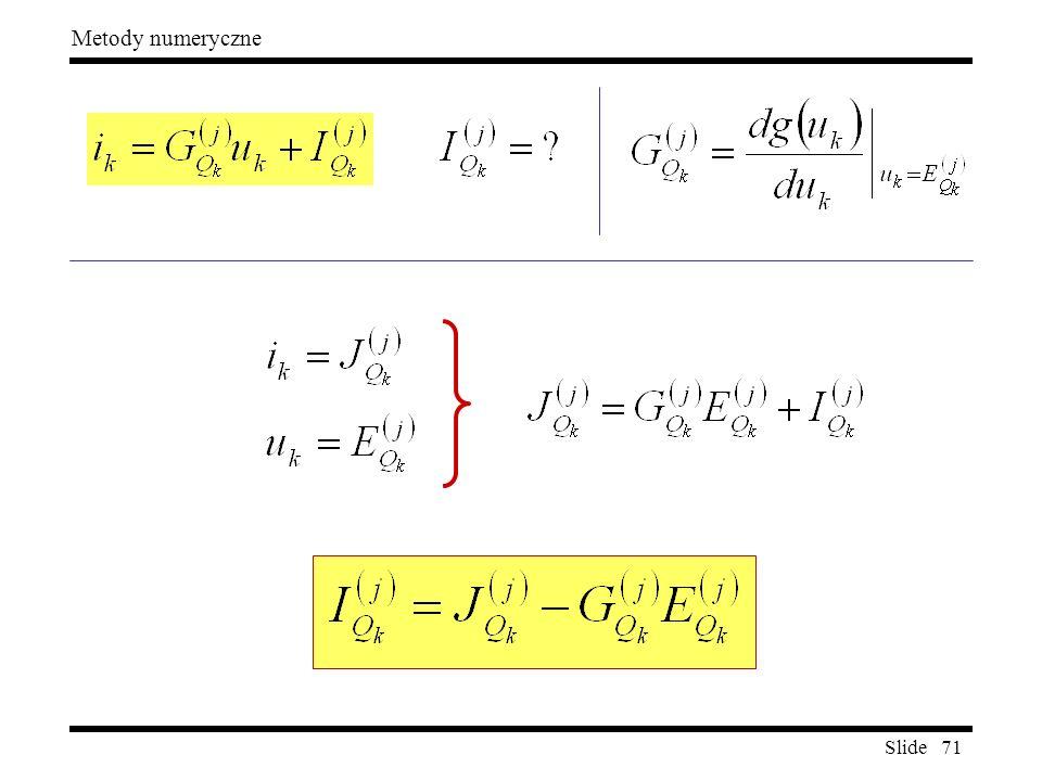 Slide 71 Metody numeryczne