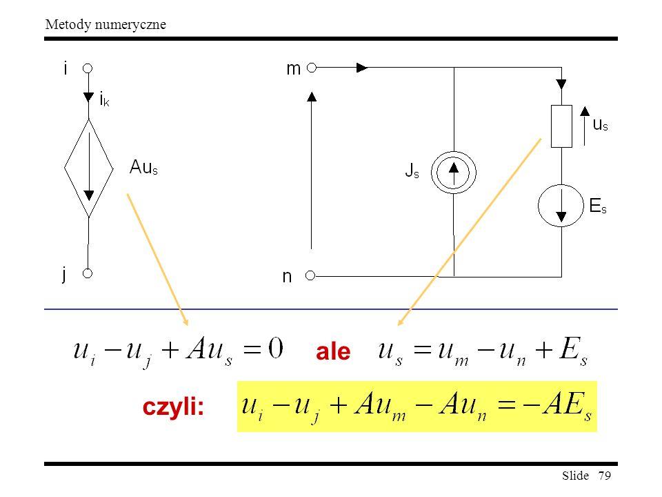 Slide 79 Metody numeryczne ale czyli:
