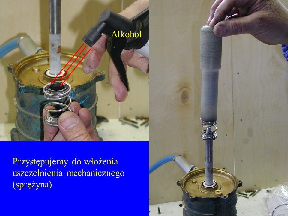 Alkohol Przystępujemy do włożenia uszczelnienia mechanicznego (sprężyna)