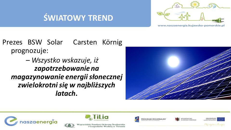 Prezes BSW Solar Carsten Körnig prognozuje: – Wszystko wskazuje, iż zapotrzebowanie na magazynowanie energii słonecznej zwielokrotni się w najbliższyc
