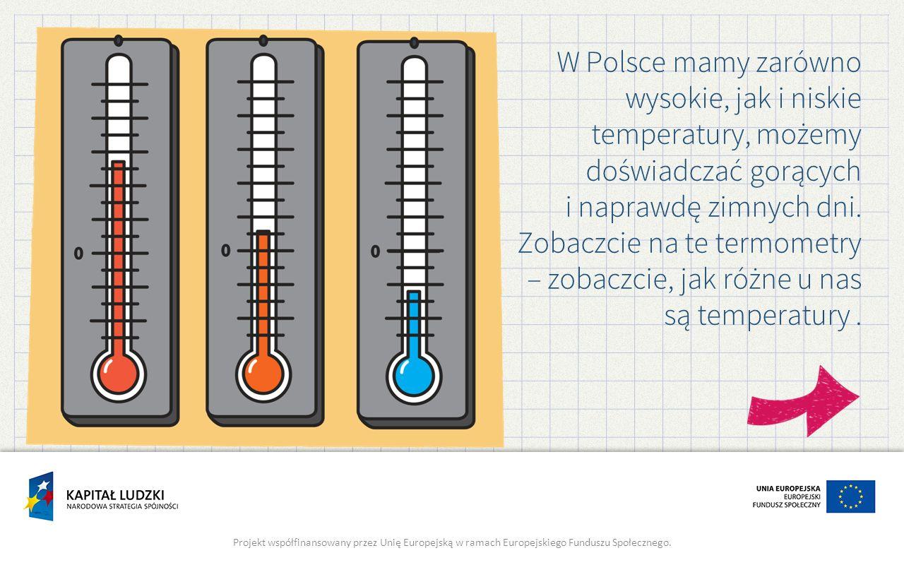 W Polsce mamy zarówno wysokie, jak i niskie temperatury, możemy doświadczać gorących i naprawdę zimnych dni. Zobaczcie na te termometry – zobaczcie, j