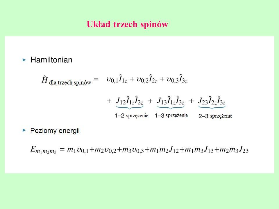 Układ trzech spinów