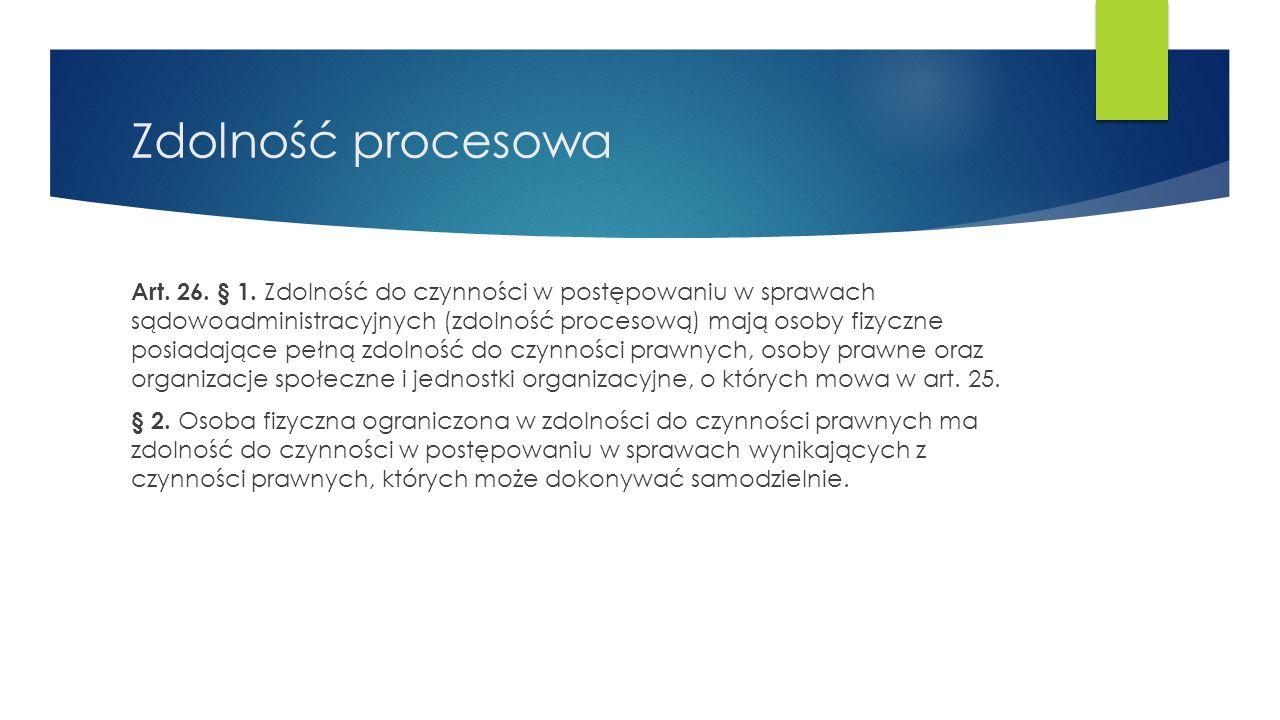 Zdolność procesowa Art.26. § 1.