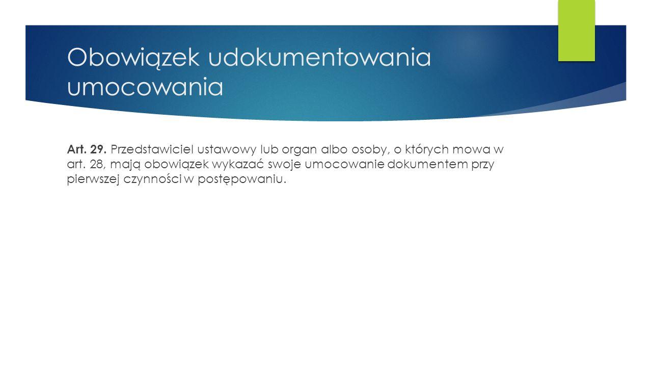 Sądowe ustanowienie kuratora Art.30.