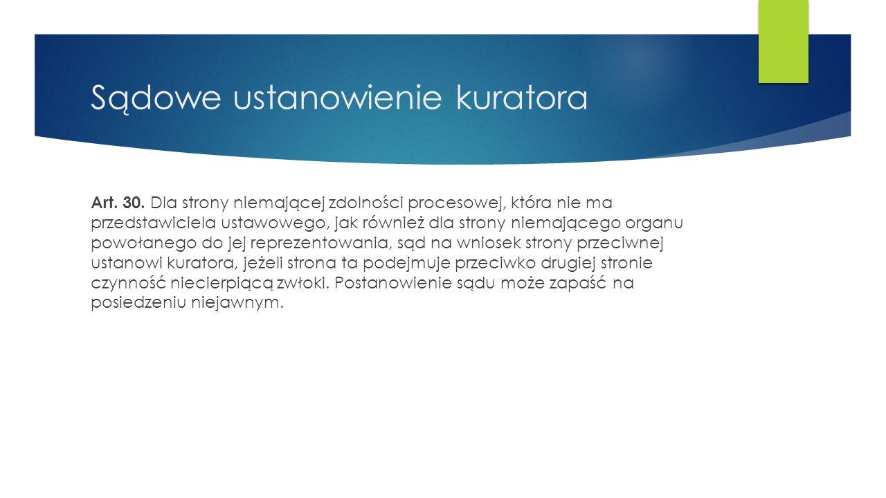 Strony postępowania Art.32.