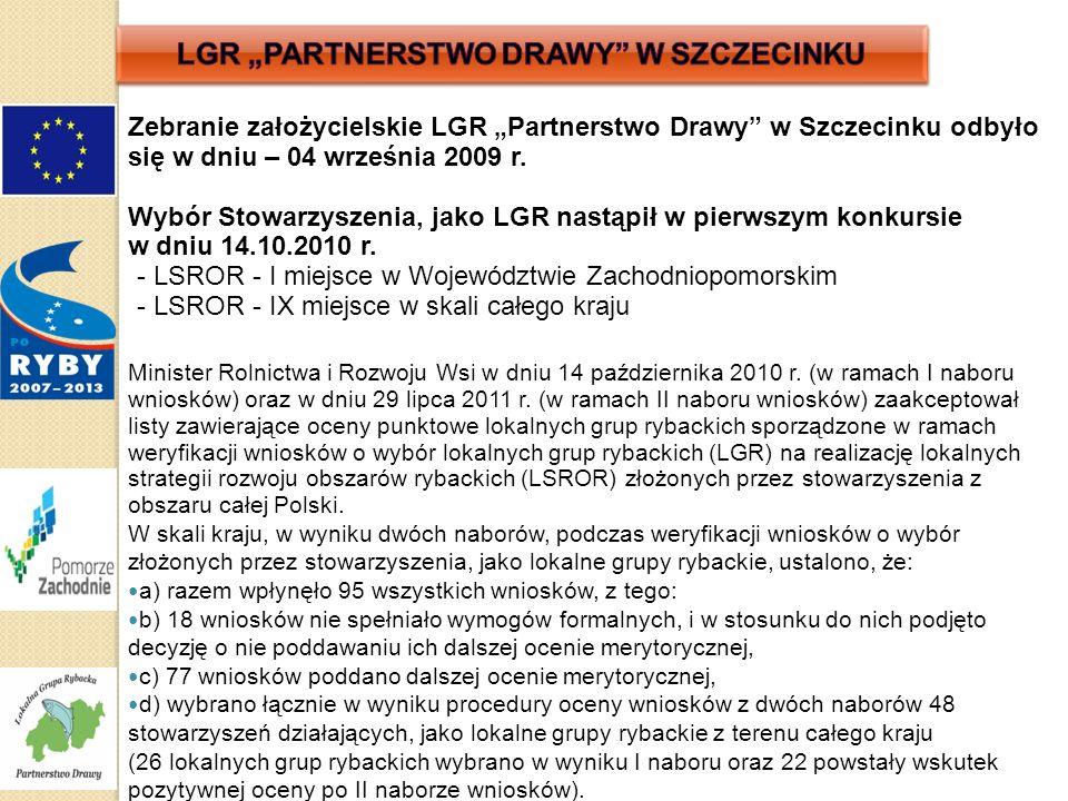 """Zebranie założycielskie LGR """"Partnerstwo Drawy w Szczecinku odbyło się w dniu – 04 września 2009 r."""
