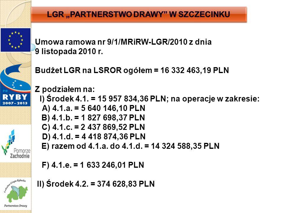 Umowa ramowa nr 9/1/MRiRW-LGR/2010 z dnia 9 listopada 2010 r.