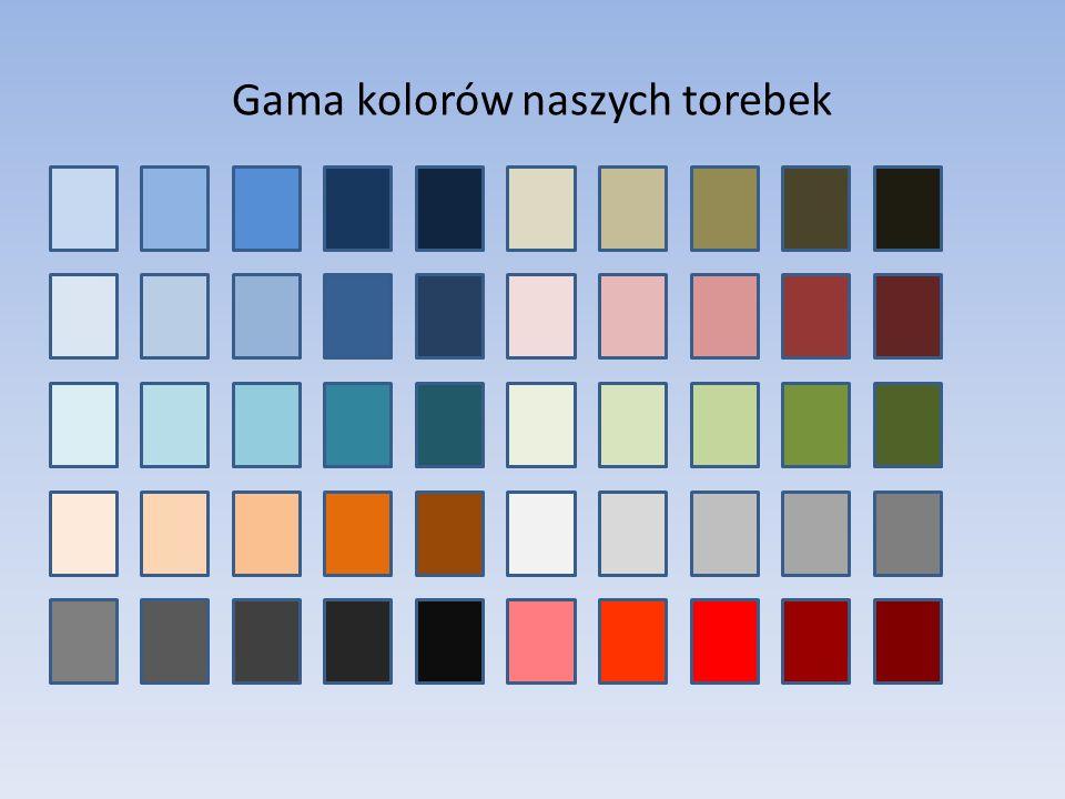 Gama kolorów naszych torebek