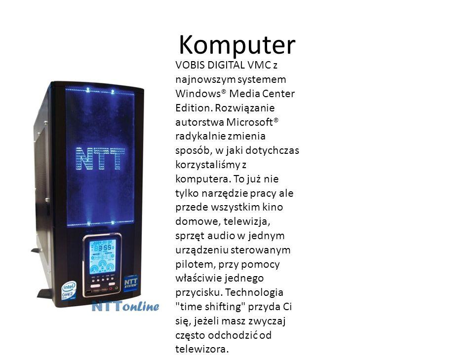 Komputer VOBIS DIGITAL VMC z najnowszym systemem Windows® Media Center Edition. Rozwiązanie autorstwa Microsoft® radykalnie zmienia sposób, w jaki dot