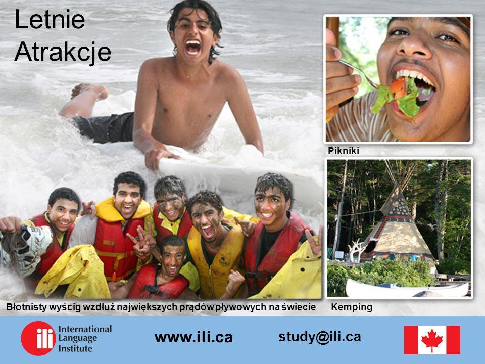 study@ili.ca www.ili.ca Letnie Atrakcje Pikniki Błotnisty wyścig wzdłuż największych prądów pływowych na świecieKemping