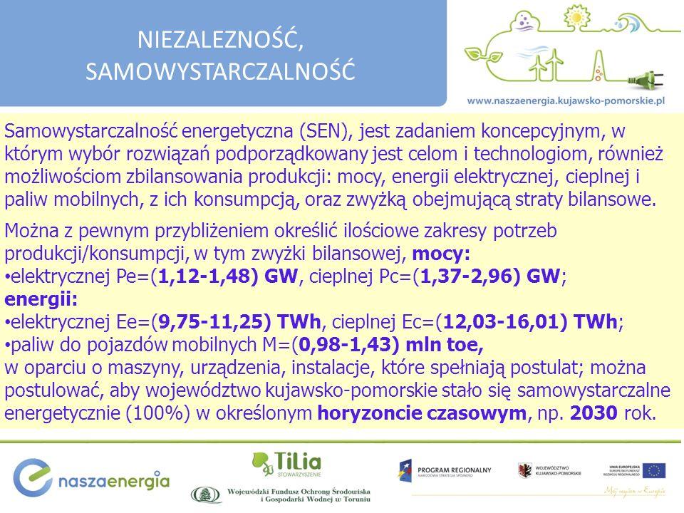 Samowystarczalność energetyczna (SEN), jest zadaniem koncepcyjnym, w którym wybór rozwiązań podporządkowany jest celom i technologiom, również możliwościom zbilansowania produkcji: mocy, energii elektrycznej, cieplnej i paliw mobilnych, z ich konsumpcją, oraz zwyżką obejmującą straty bilansowe.