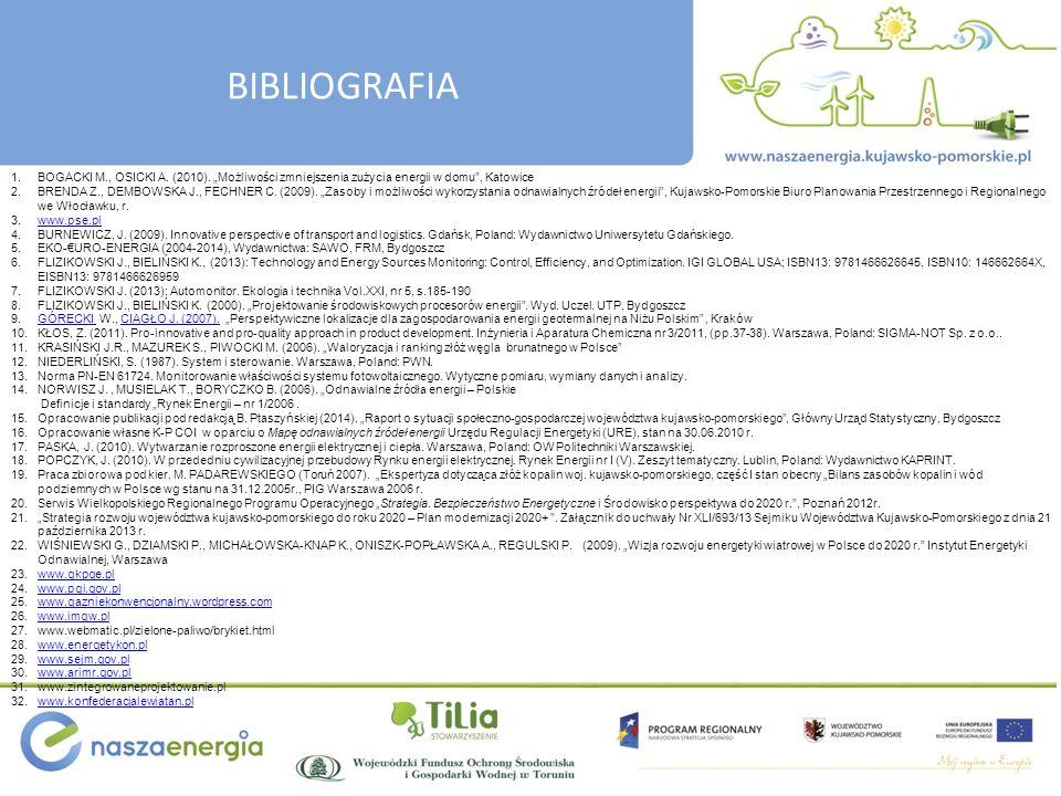 BIBLIOGRAFIA 1.BOGACKI M., OSICKI A.(2010).