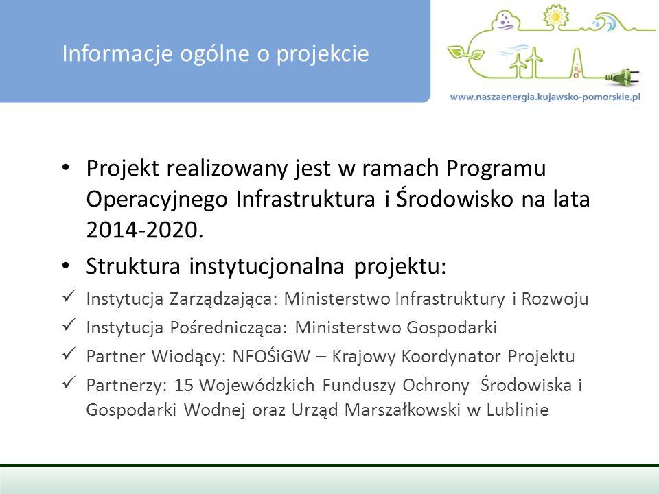 Cel projektu, Wsparcie projektów przyczyniających się do realizacji pakietu klimatyczno-energetycznego UE 20/20/20.