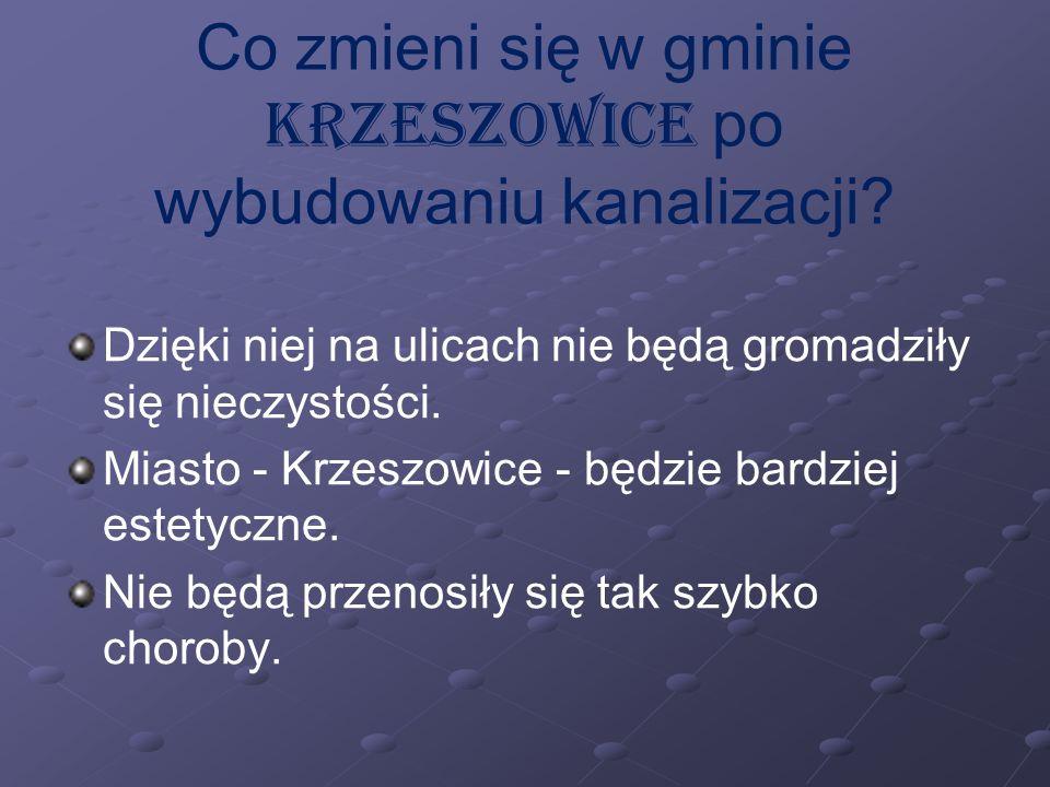 Co zmieni się w gminie Krzeszowice po wybudowaniu kanalizacji.
