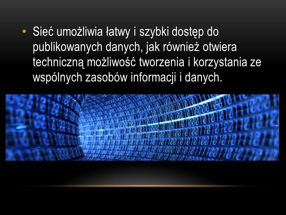 Głównym przeznaczeniem sieci komputerowej jest ułatwienie komunikacji pomiędzy ludźmi, będącymi faktycznymi użytkownikami sieci.