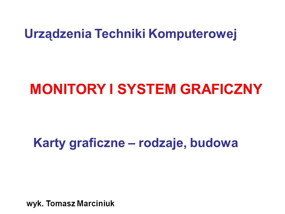 wyk. Tomasz Marciniuk MONITORY I SYSTEM GRAFICZNY Karty graficzne – rodzaje, budowa Urządzenia Techniki Komputerowej